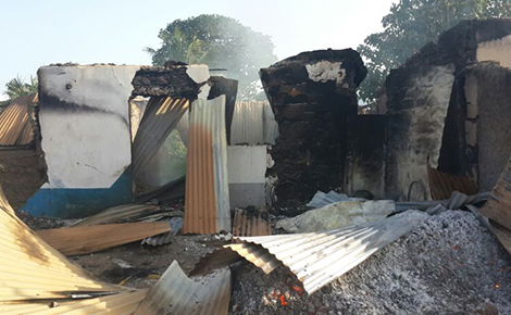 One of the houses torched during the Mpeketoni attacks last month